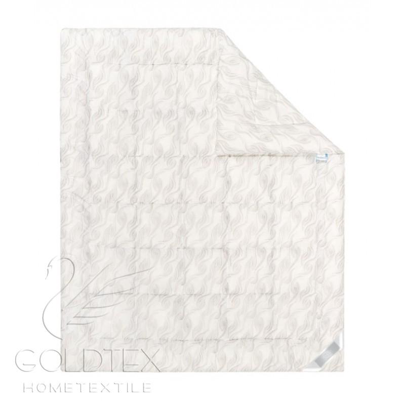 Одеяло Delicate Touch Лебяжий пух, размер 1,5 спальное (140х205 см)Одеяла<br>Длина: 205 см <br>Ширина: 140 см <br>Чехол: Стеганое, с кантом <br>Плотность наполнителя: 300 г/кв. м<br><br>Тип: Одеяло<br>Размер: 140х205<br>Материал: Лебяжий пух