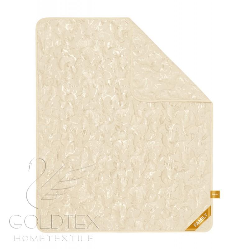 Одеяло Family Collection, размер Евро (200х220 см)Одеяла<br>Длина:220 см<br>Ширина:200 см<br>Чехол:Стеганый, с окаймляющей лентой<br>Плотность наполнителя:300 г/кв. м<br><br>Тип: Одеяло<br>Размер: 200х220<br>Материал: Овечий мех