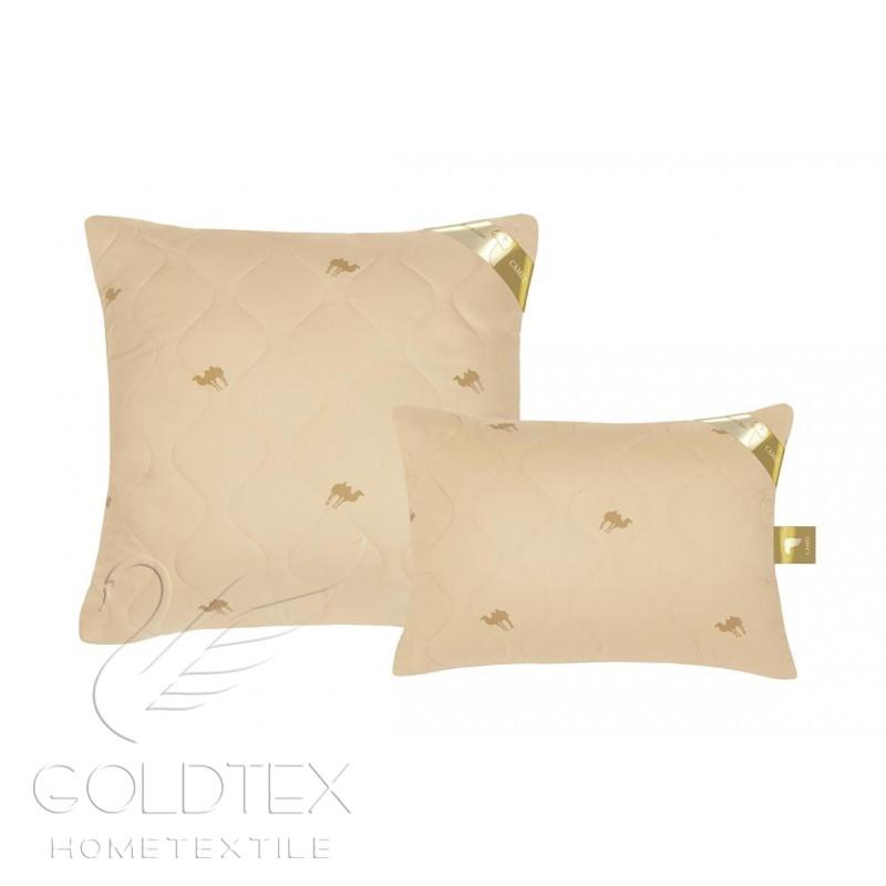 Подушка Золотой верблюд, размер Подушка 70х70Подушки<br>Чехол: Стеганый<br><br>Тип: Подушка<br>Размер: 70х70<br>Материал: Верблюжья шерсть