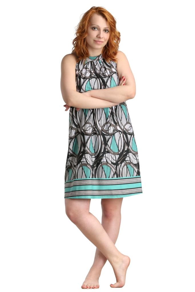 Жен. платье арт. 16-0004 Ментол р. 56Платья, туники<br>Обхват груди:112 см<br>Обхват талии:95 см<br>Обхват бедер:120 см<br>Рост:164-170 см<br><br>Тип: Жен. платье<br>Размер: 56<br>Материал: Масло