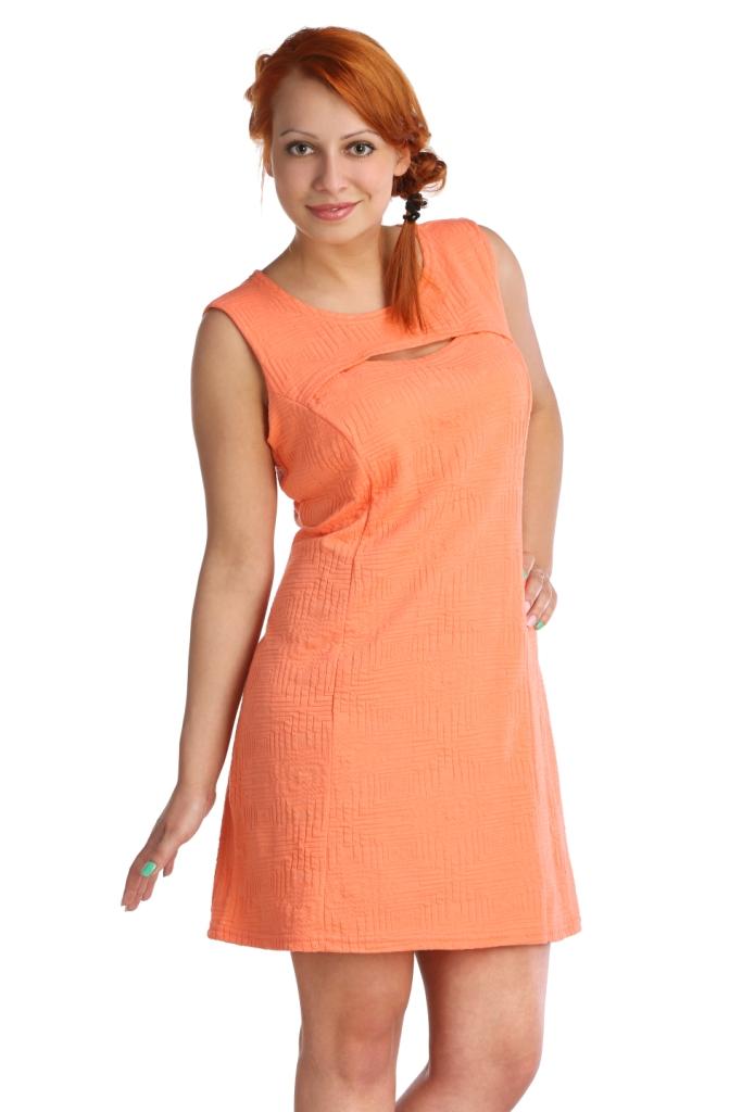 Жен. платье арт. 16-0024 Коралл р. 42Платья, туники<br>Обхват груди:84 см<br>Обхват талии:65 см<br>Обхват бедер:92 см<br>Длина по спинке:86 см<br>Рост:164-170 см<br><br>Тип: Жен. платье<br>Размер: 42<br>Материал: Хлопок