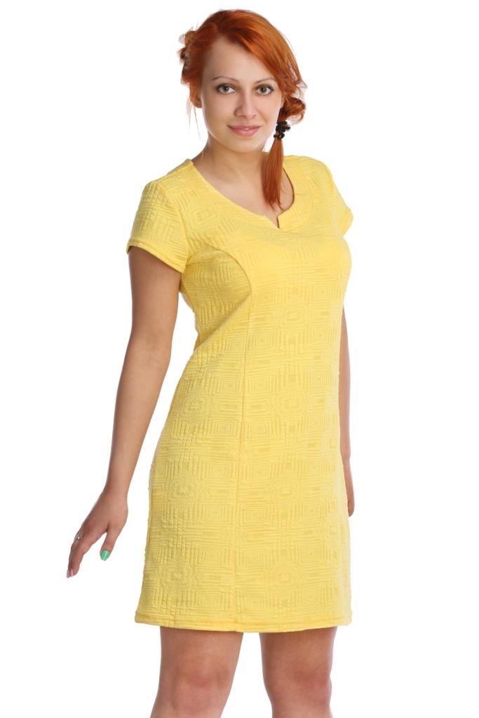 Жен. платье арт. 16-0025 Желтый р. 44Платья, туники<br>Обхват груди:88 см<br>Обхват талии:69 см<br>Обхват бедер:96 см<br>Длина по спинке:86 см<br>Рост:164-170 см<br><br>Тип: Жен. платье<br>Размер: 44<br>Материал: Хлопок