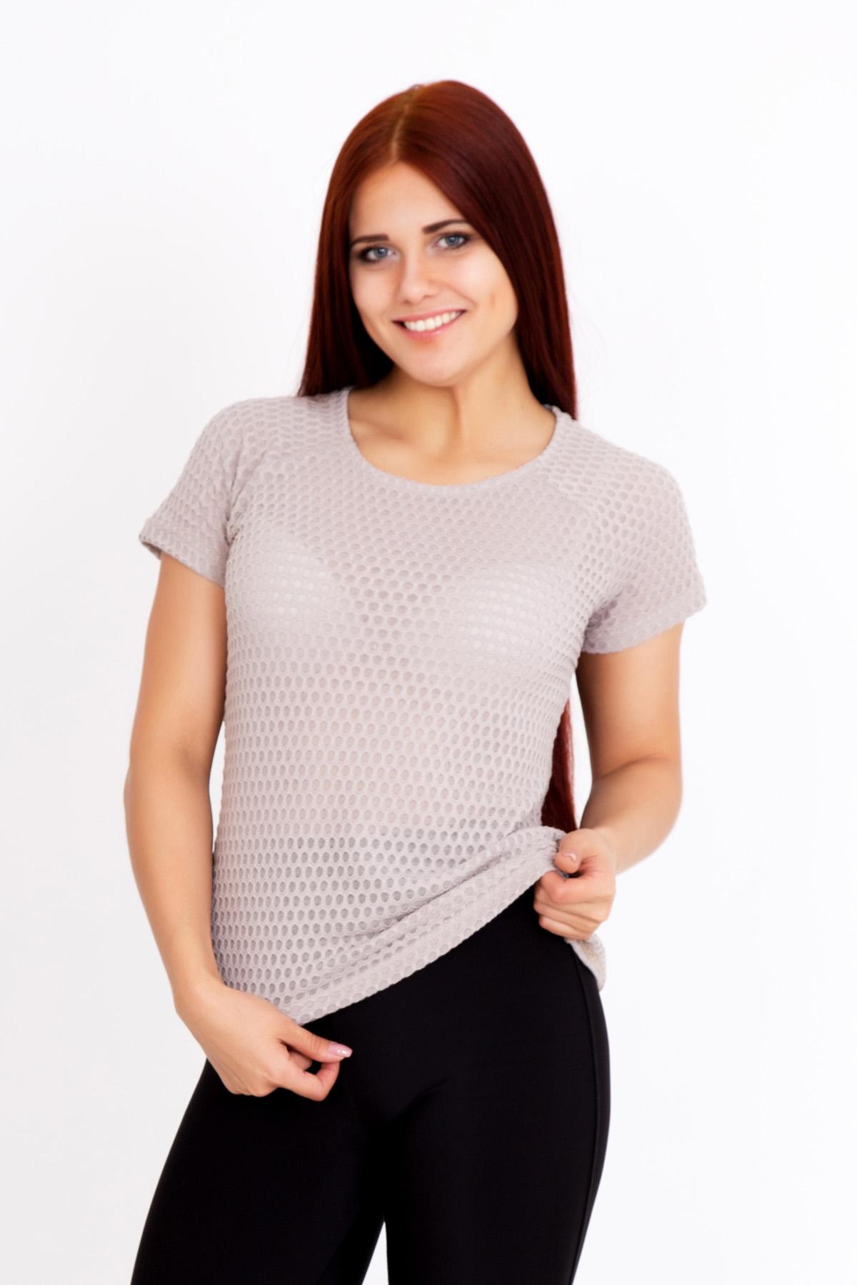 Жен. блуза Ажур Бежевый р. 48Блузы<br>Обхват груди:96 см<br>Обхват талии:78 см<br>Обхват бедер:104 см<br>Длина по спинке:56 см<br>Рост:167 см<br><br>Тип: Жен. блуза<br>Размер: 48<br>Материал: Вискоза