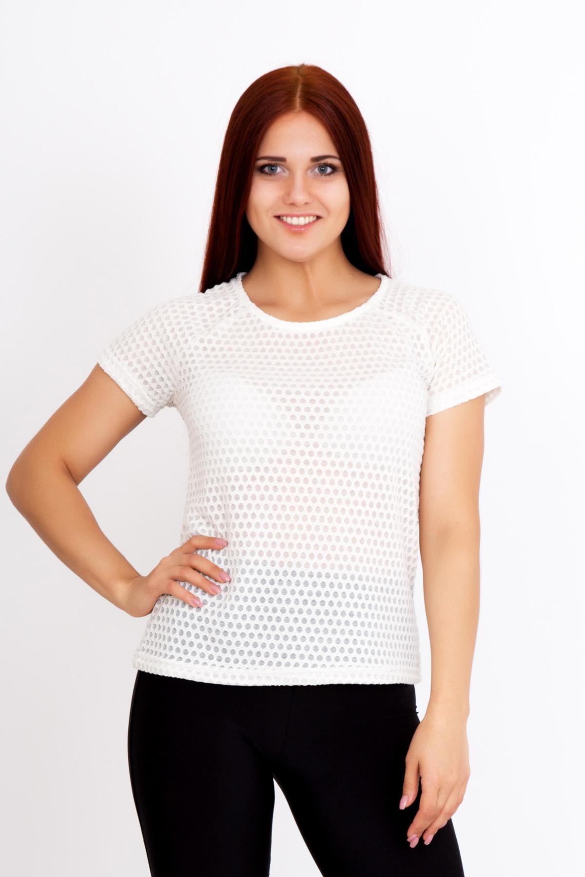 Жен. блуза Ажур Белый р. 44Блузы<br>Обхват груди: 88 см <br>Обхват талии: 68 см <br>Обхват бедер: 96 см <br>Длина по спинке: 55 см <br>Рост: 167 см<br><br>Тип: Жен. блуза<br>Размер: 44<br>Материал: Вискоза