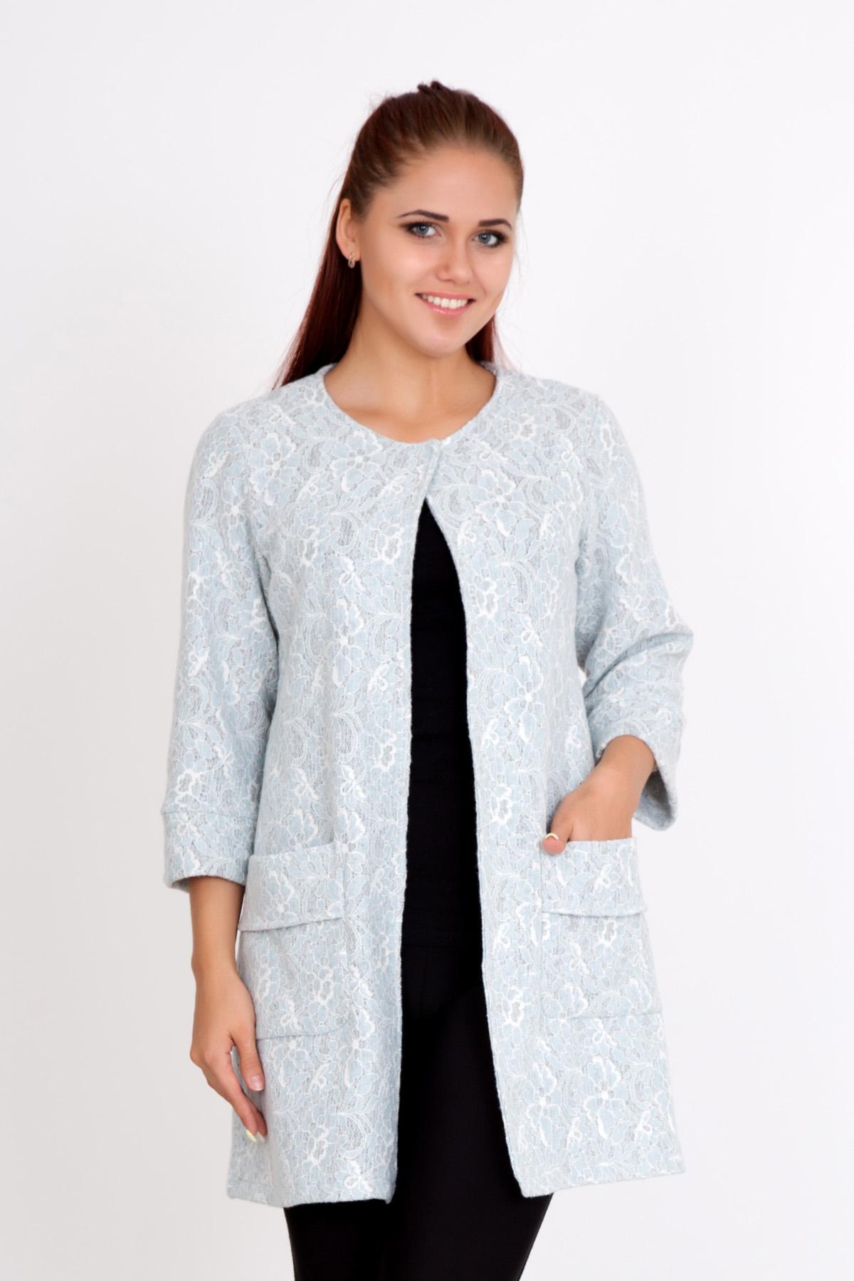 Жен. пальто  Летнее  Голубой р. 56 - Женская одежда артикул: 20369