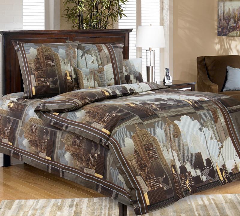 КПБ Город в коричневом, размер 1,5 сп. кпб сити в коричневом размер 2 0 спальный