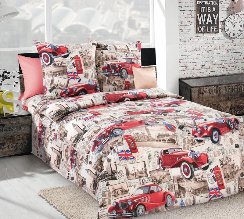 Детский постельный комплект бязь «Ретро», размер 1,5 сп. - Постельное белье артикул: 7821