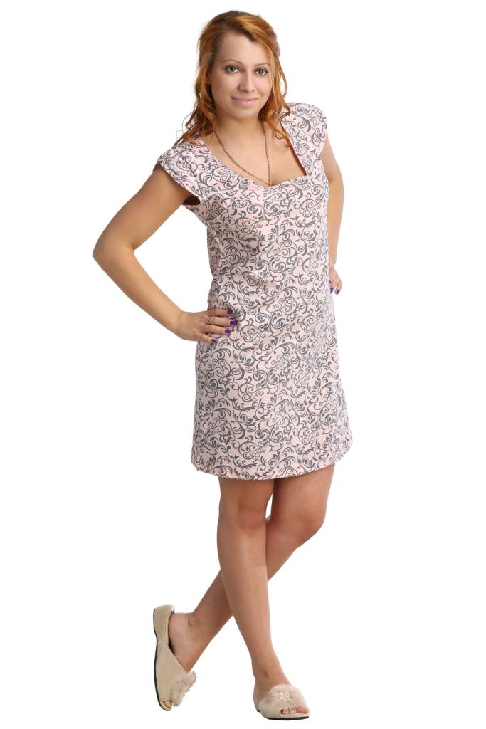 Жен. сорочка арт. 16-0055 Розовый р. 56 - Текстиль для здоровья артикул: 20680