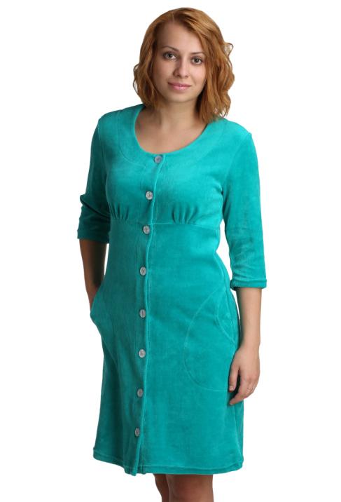 """Женский халат """"Пегги"""" Зеленый, размер 54 ЕленаТекс"""