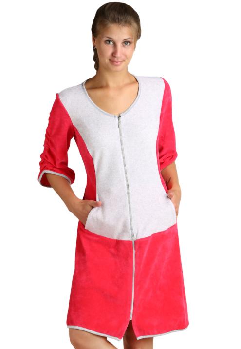 Купить со скидкой Женский халат «Вика» Малиновый, размер 56