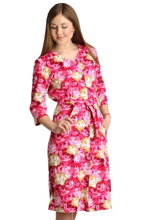 Женский халат Аннушка Розовый, размер 50Халаты<br>Обхват груди:100 см<br>Обхват талии:82 см<br>Обхват бедер:108 см<br>Длина по спинке:107 см<br>Рост:164-170 см<br><br>Тип: Жен. халат<br>Размер: 50<br>Материал: Махра