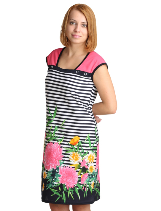 Женское платье Силви Розовый, размер 48Платья, туники<br>Обхват груди:96 см<br>Обхват талии:77 см<br>Обхват бедер:104 см<br>Длина по спинке:92 см<br>Рост:164-170 см<br><br>Тип: Жен. платье<br>Размер: 48<br>Материал: Кулирка
