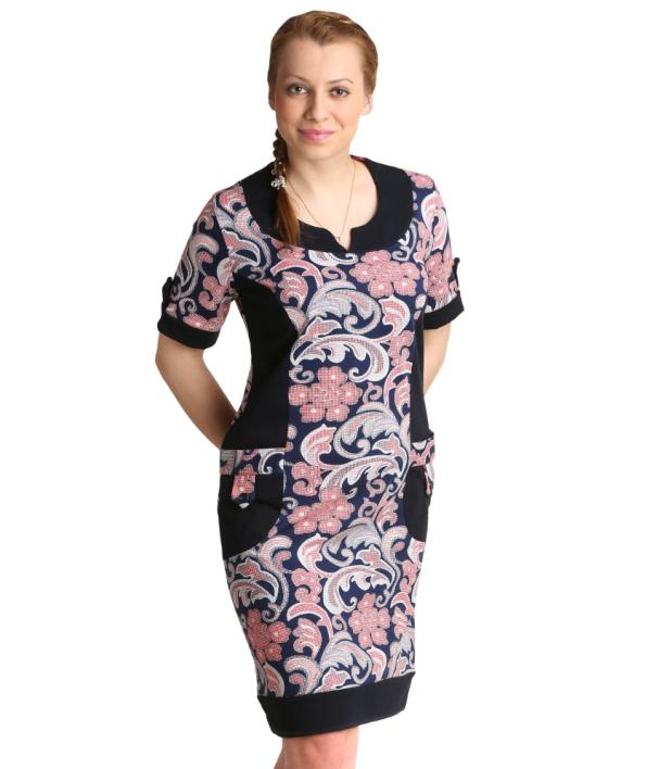 Женская туника-платье Дана, размер 58Туники<br>Обхват груди: 116 см <br>Обхват талии: 100 см <br>Обхват бедер: 124 см <br>Рост: 164-170 см<br><br>Тип: Жен. туника<br>Размер: 58<br>Материал: Кулирка