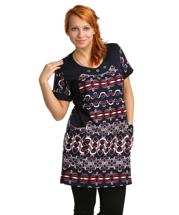 Жен. туника арт. 16-0077 р. 58Распродажа женской одежды<br>Обхват груди: 116 см <br>Обхват талии: 100 см <br>Обхват бедер: 124 см <br>Длина по спинке: 86 см <br>Рост: 164-170 см<br><br>Тип: Жен. туника<br>Размер: 58<br>Материал: Интерлок