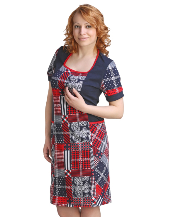 Женская туника-платье Айли, размер 54Туники<br>Обхват груди: 108 см <br>Обхват талии: 90 см <br>Обхват бедер: 116 см <br>Длина по спинке: 100 см <br>Рост: 164-170 см<br><br>Тип: Жен. туника<br>Размер: 54<br>Материал: Кулирка