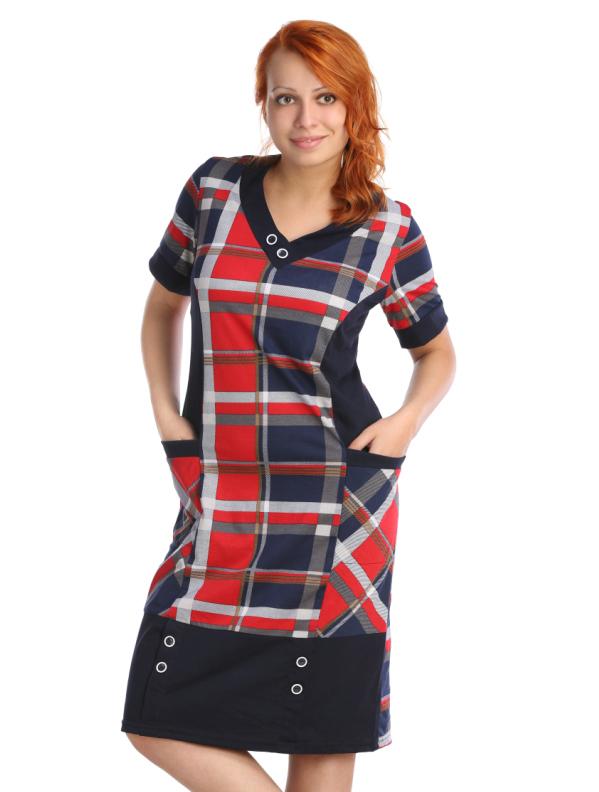 Жен. платье арт. 16-0033 Красный р. 60 - Женская одежда артикул: 19439