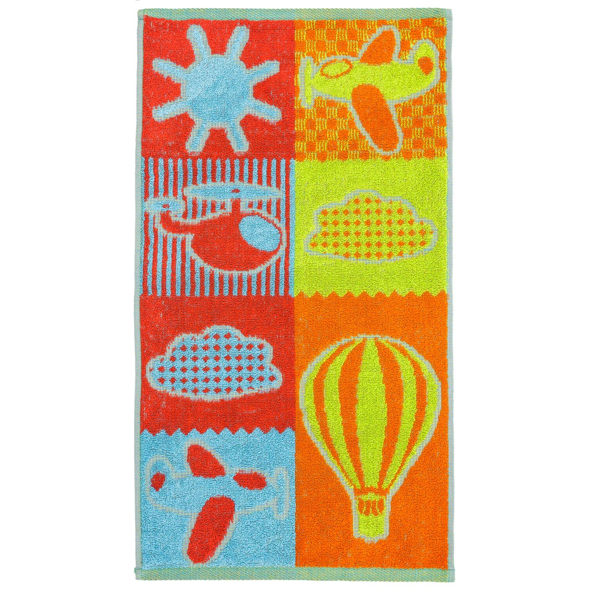 Полотенце Веселые кубики Оранжевый р. 30х60Махровые полотенца<br><br><br>Тип: Полотенце<br>Размер: 30х60<br>Материал: Махра