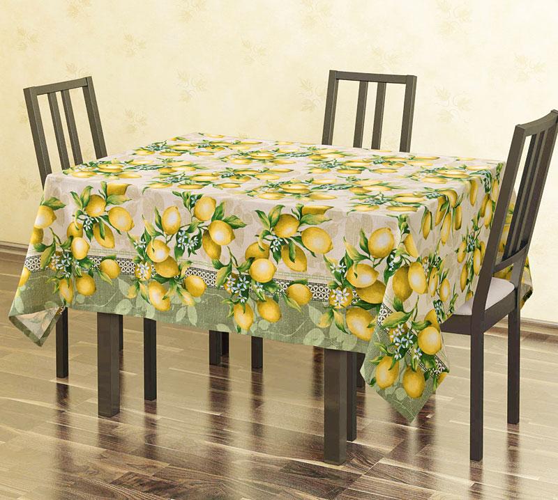Скатерть  Лимоны  р. 145х180 - Текстиль для дома артикул: 25275