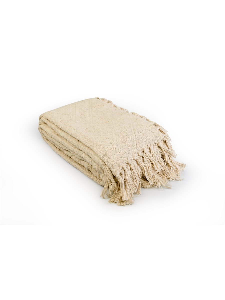 Плед Сандал Светло-бежевый р. 160х220Покрывала<br>Плотность ткани: 350 г/кв. м<br><br>Тип: Плед<br>Размер: 160х220<br>Материал: Вязаное полотно