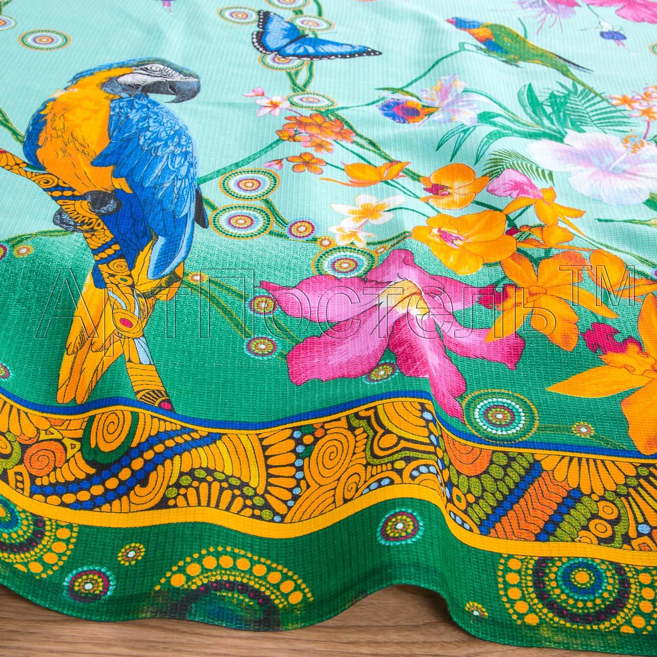 Вафельное полотенце Райский уголок р. 100х150Вафельные полотенца<br>Плотность: 160 г/кв. м<br><br>Тип: Вафельное полотенце<br>Размер: 100х150<br>Материал: Вафельное полотно