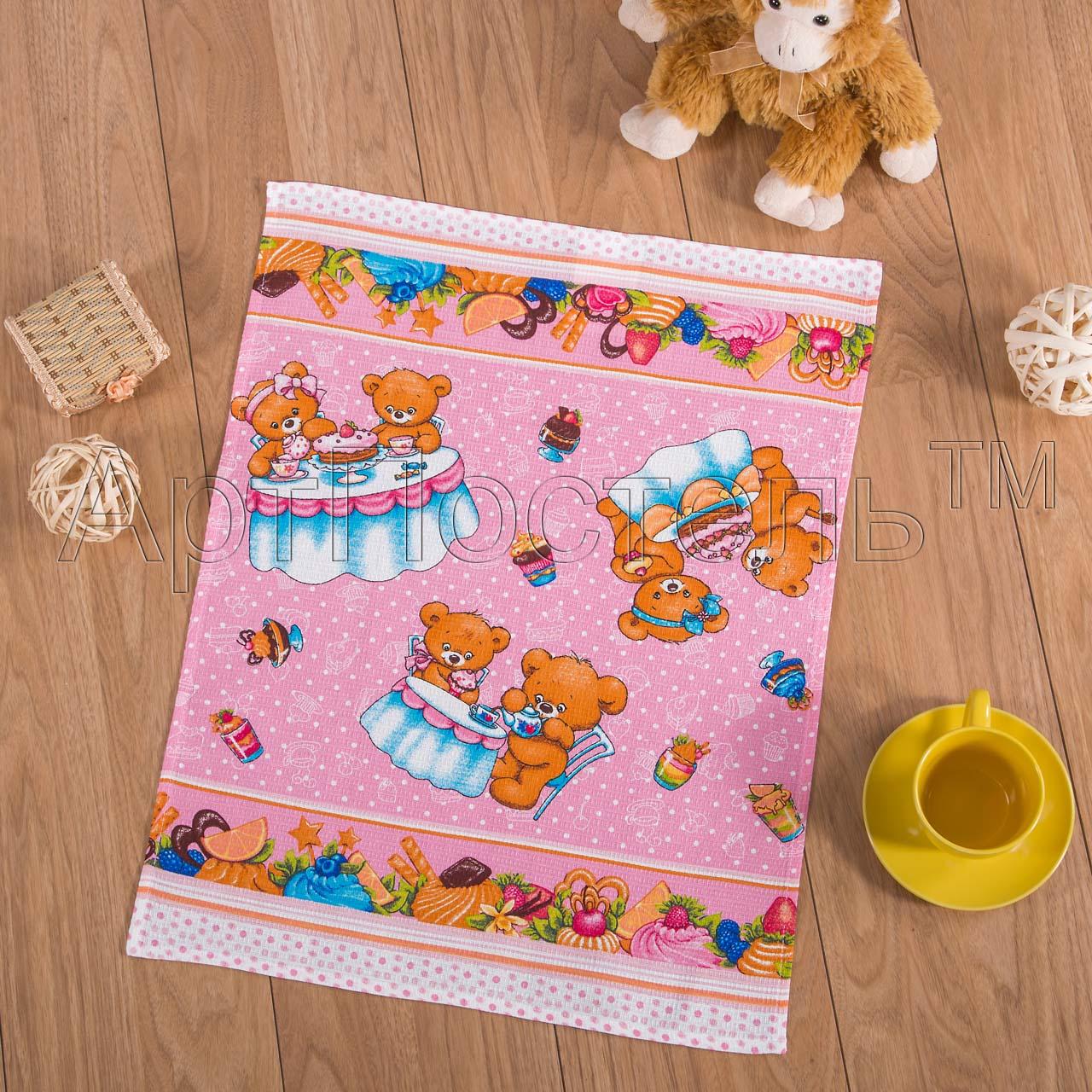 Вафельное полотенце Сладкоежка р. 45х60Вафельные полотенца<br>Плотность: 160 г/кв. м<br><br>Тип: Вафельное полотенце<br>Размер: 45х60<br>Материал: Вафельное полотно