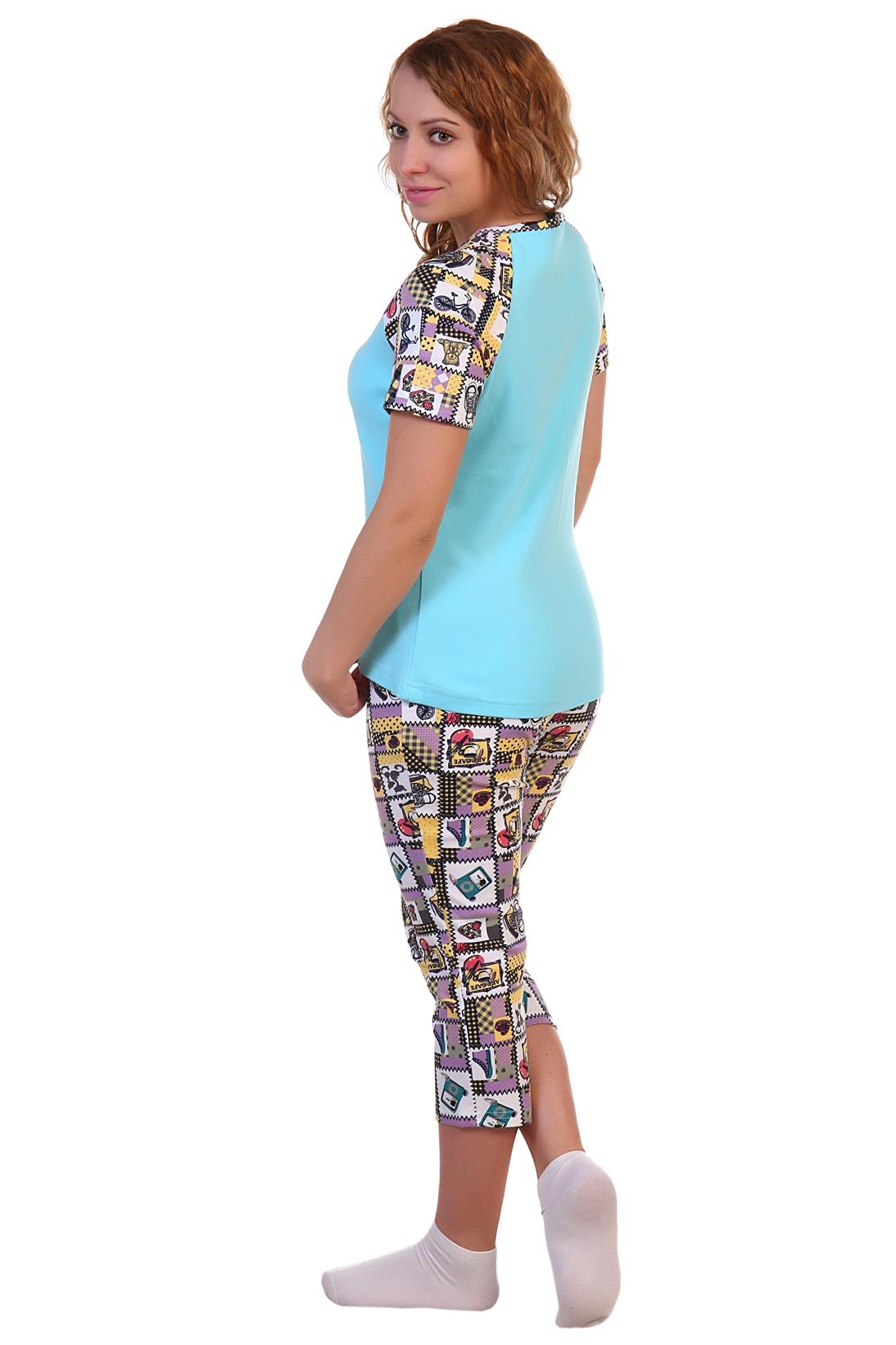 Жен. костюм арт. 16-0246 светло-бирюзовый р. 46