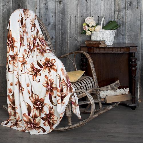 Плед  Лилии  р. 180х200 - Текстиль для дома артикул: 25939