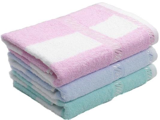 """Полотенце """"Светлая полоса"""" , цвет Розовый, размер 50х90 см Китай"""