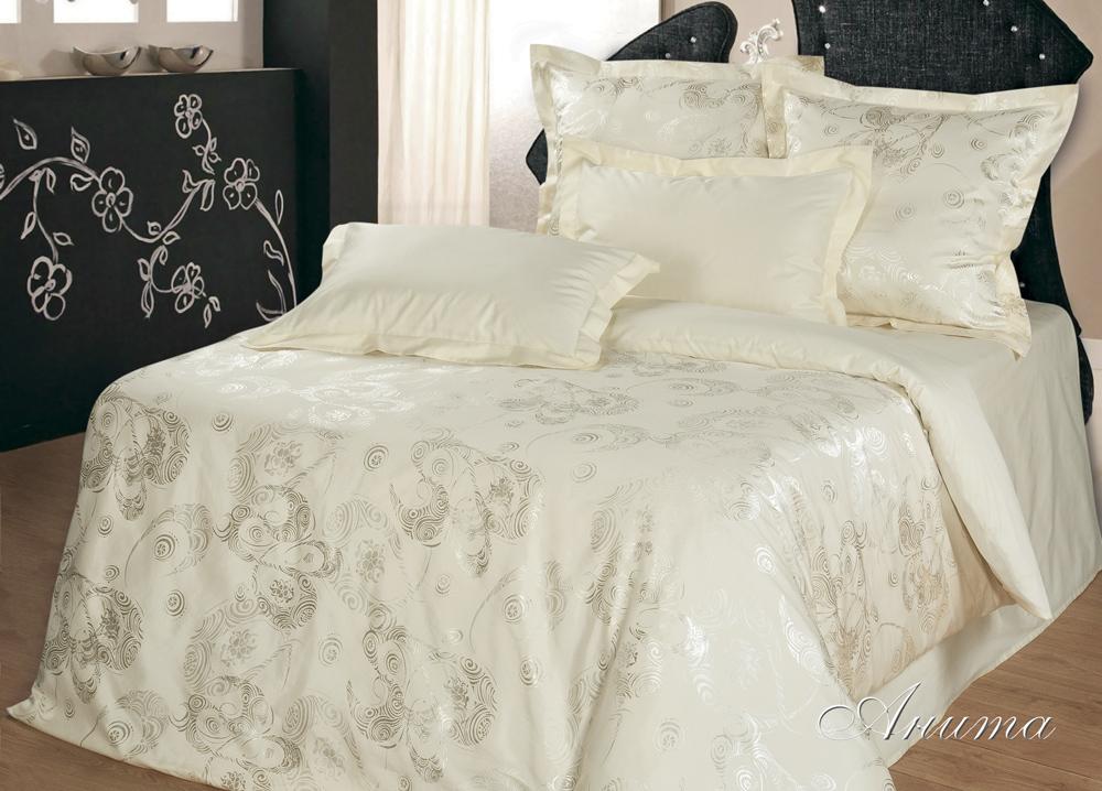 Комплект  Анита , размер 2,0-спальный с 4 наволочками - Постельное белье артикул: 10555