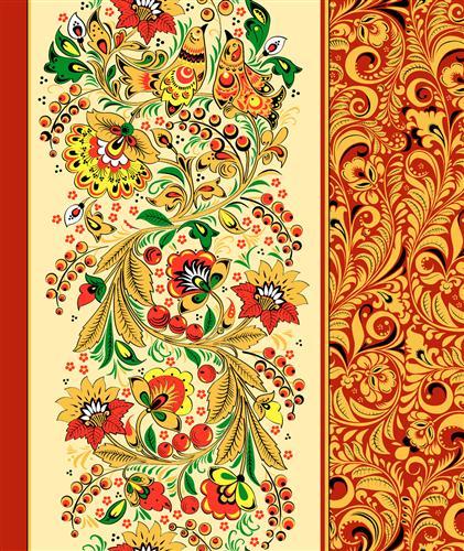 Вафельное полотенце Хохломские узоры, размер 50х70 смВафельные полотенца<br><br><br>Тип: Вафельное полотенце<br>Размер: 50х70<br>Материал: Вафельное полотно