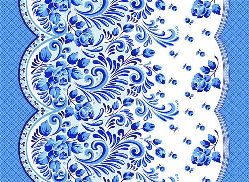 Вафельное полотенце Гжелька, размер 50х70 смВафельные полотенца<br><br><br>Тип: Вафельное полотенце<br>Размер: 50х70<br>Материал: Вафельное полотно