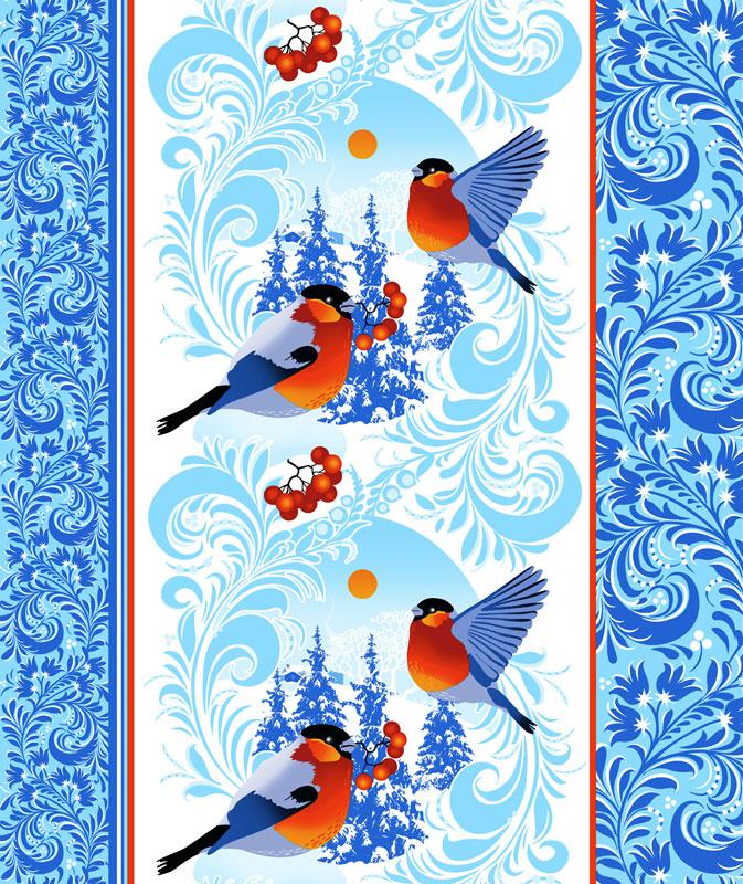 Вафельное полотенце Снегири, размер 50х70 смВафельные полотенца<br><br><br>Тип: Вафельное полотенце<br>Размер: 50х70<br>Материал: Вафельное полотно