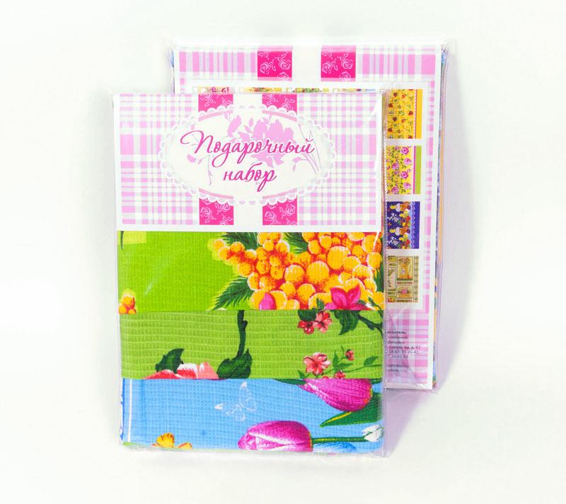 Подарочный набор Весенний, размер 50х70 смВафельные полотенца<br>Полотенце:50х70 см - 3 шт.<br><br>Тип: Вафельное полотенце<br>Размер: -<br>Материал: Вафельное полотно