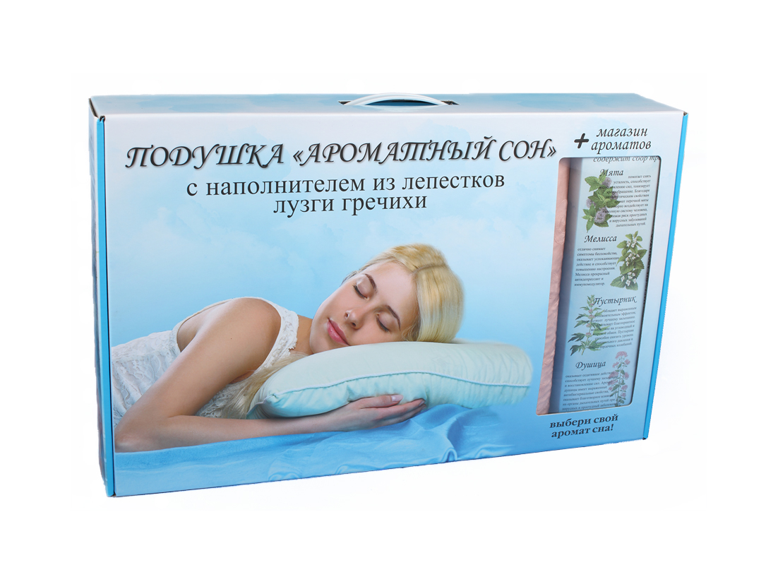 Подушка  Ароматный сон  с магазином ароматов, размер 40х60 см. - Текстиль для здоровья артикул: 11258