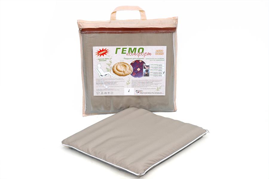 Подушка Гемо-комфорт, размер Подушка 50х50Для комфортного сна, отдыха и работы<br><br><br>Тип: -<br>Размер: 50х50<br>Материал: Лузга гречихи