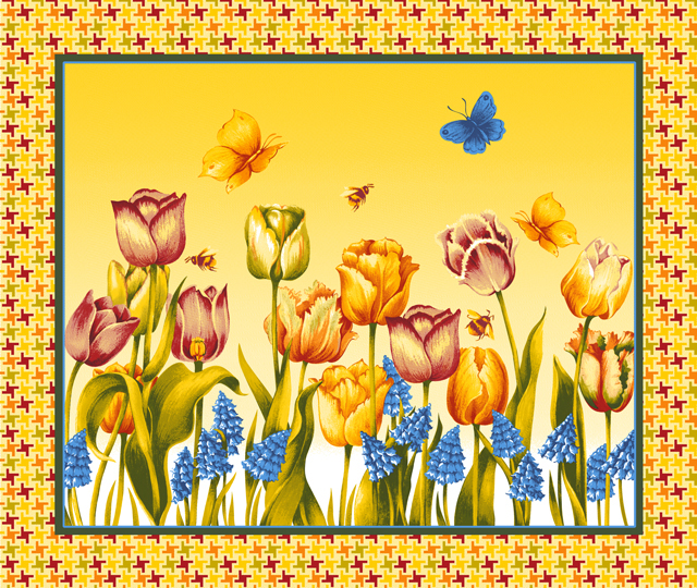 Вафельное полотенце Весна, размер 50х60 см вафельное полотенце клубника р 50х60