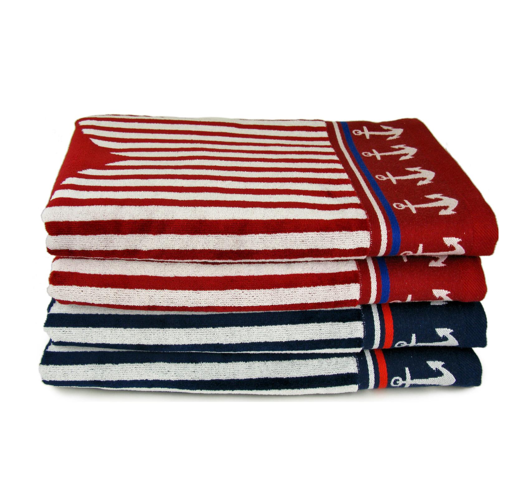 Полотенце Якоря, цвет Красный, размер 50х90 смМахровые полотенца<br>Плотность: 480 г/кв. м<br><br>Тип: Полотенце<br>Размер: 50х90<br>Материал: Махра