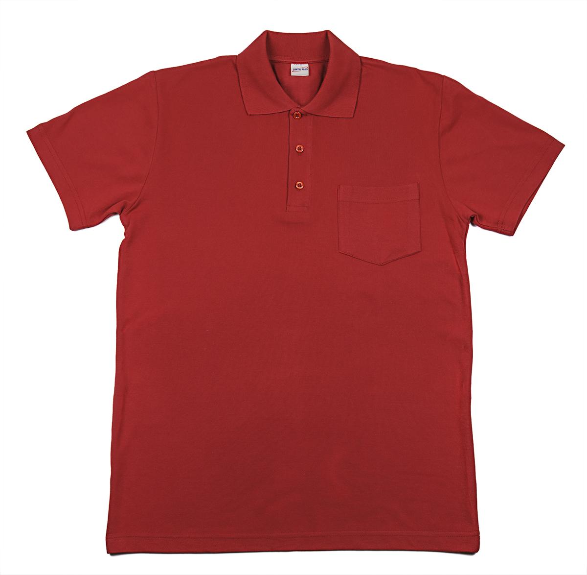 """Мужская футболка-поло """"Team Polo Pocket"""", цвет Белый, размер 52 Узбекистан """"Textil Plus"""""""
