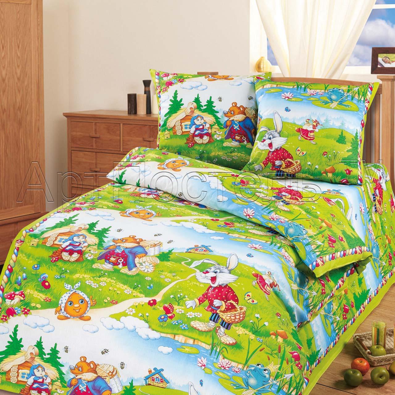 Детский комплект В гостях у сказки, размер 1,5-спальный