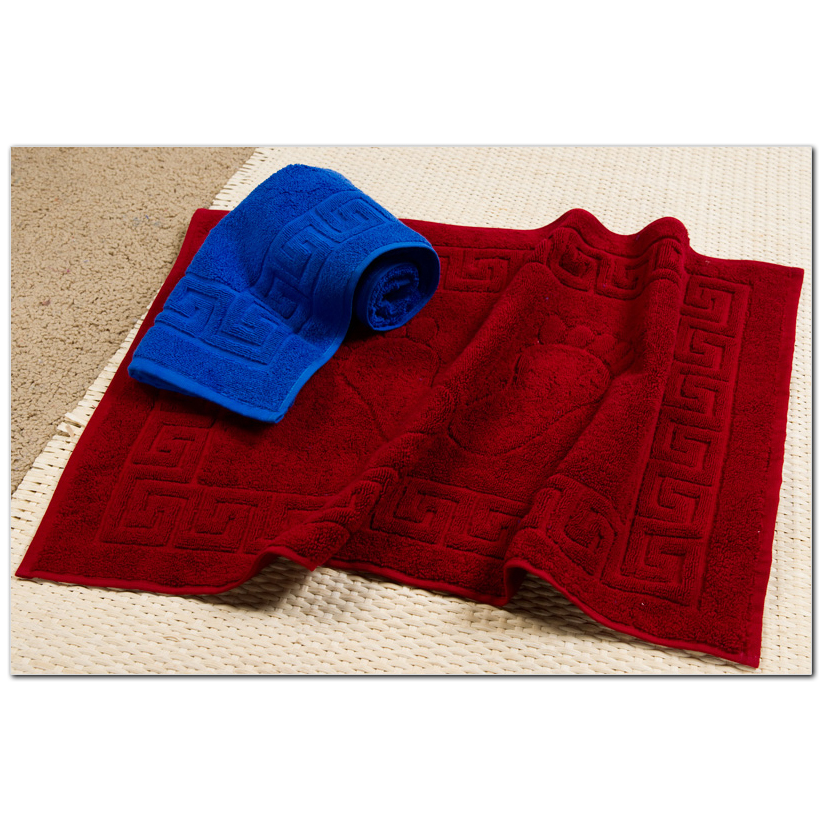 Полотенце-коврик Ножки, цвет БордовыйМахровые полотенца<br>Плотность ткани:600 г/кв. м.<br><br>Тип: Полотенце<br>Размер: 50х70<br>Материал: Махра