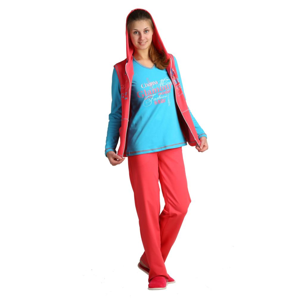 Женский костюм «Синди» красный, размер 56 ЕленаТекс