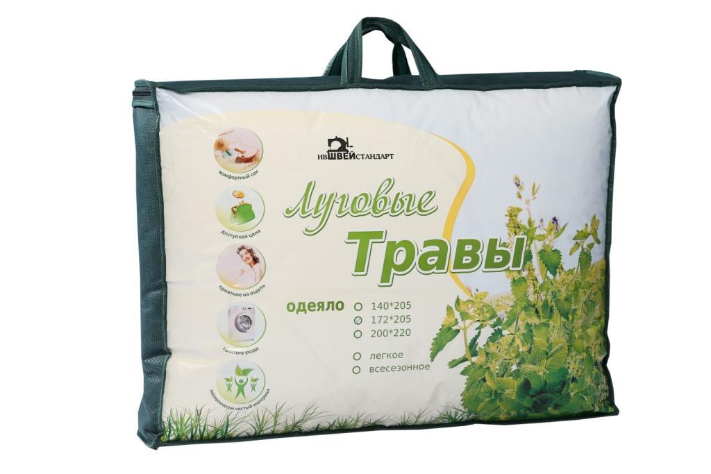 """Одеяло """"Луговые травы"""" Комфорт облегченное, размер Евро (200х220 см)"""