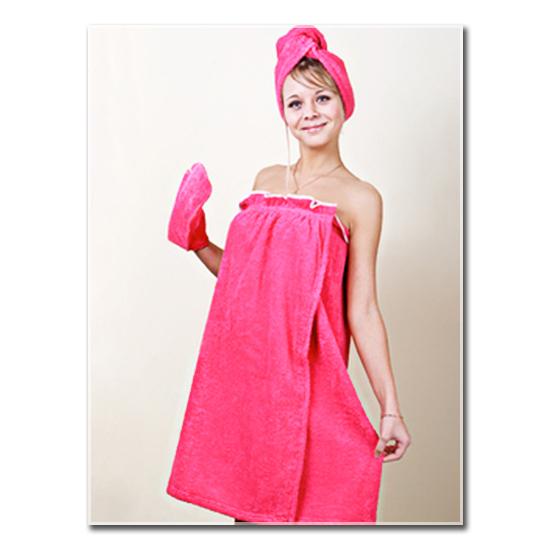 Набор для сауны женский, цвет Персиковый, размер 44-52Разные мелочи<br><br><br>Тип: -<br>Размер: 44-52<br>Материал: Махра