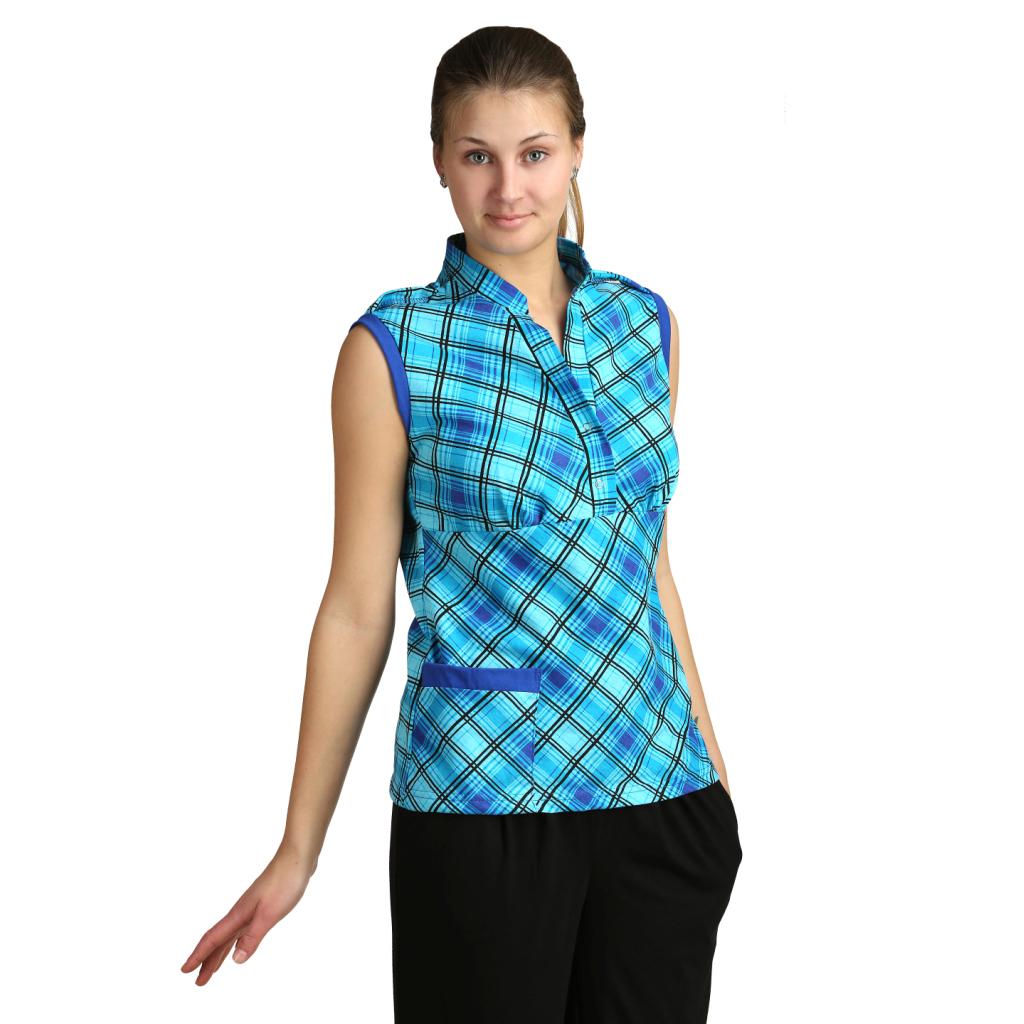 Женская блузка Марго Бирюзовый, размер 52Блузы<br>Обхват груди: 104 см <br>Обхват талии: 86 см <br>Обхват бедер: 112 см <br>Длина по спинке: 69 см <br>Рост: 164-170 см<br><br>Тип: Жен. блузка<br>Размер: 52<br>Материал: Кулирка