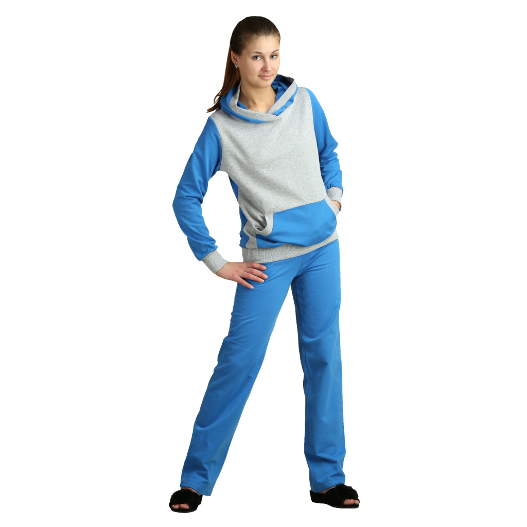 Женский костюм «Вилли» голубой, размер 44 ЕленаТекс
