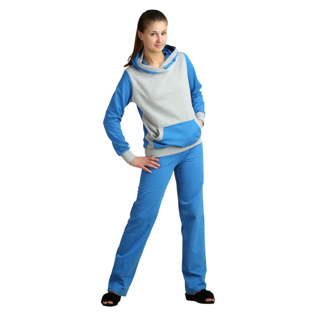 Женский костюм «Вилли» голубой, размер 42Костюмы<br>Обхват груди:84 см<br>Обхват талии:65 см<br>Обхват бедер:92 см<br>Рост:164-170 см<br><br>Тип: Жен. костюм<br>Размер: 42<br>Материал: Футер