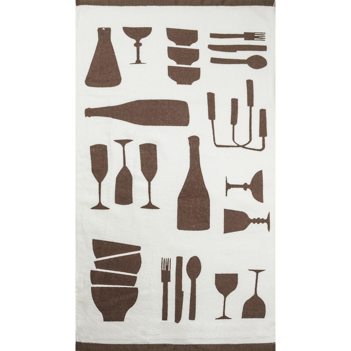 Велюровое полотенце Утварь, размер 40х70 смКухонные принадлежности<br><br><br>Тип: Полотенце<br>Размер: 40х70<br>Материал: Велюр