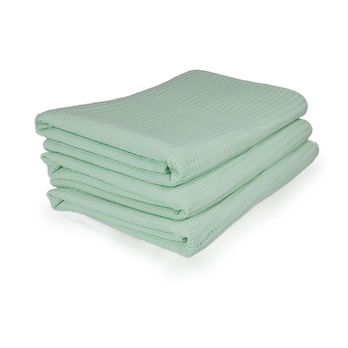 Полотенца Комфорт Зеленый, размер 34х78 смМахровые полотенца<br>Плотность ткани:380 г/кв. м.<br><br>Тип: Полотенце<br>Размер: 34х78<br>Материал: Вафельное полотно