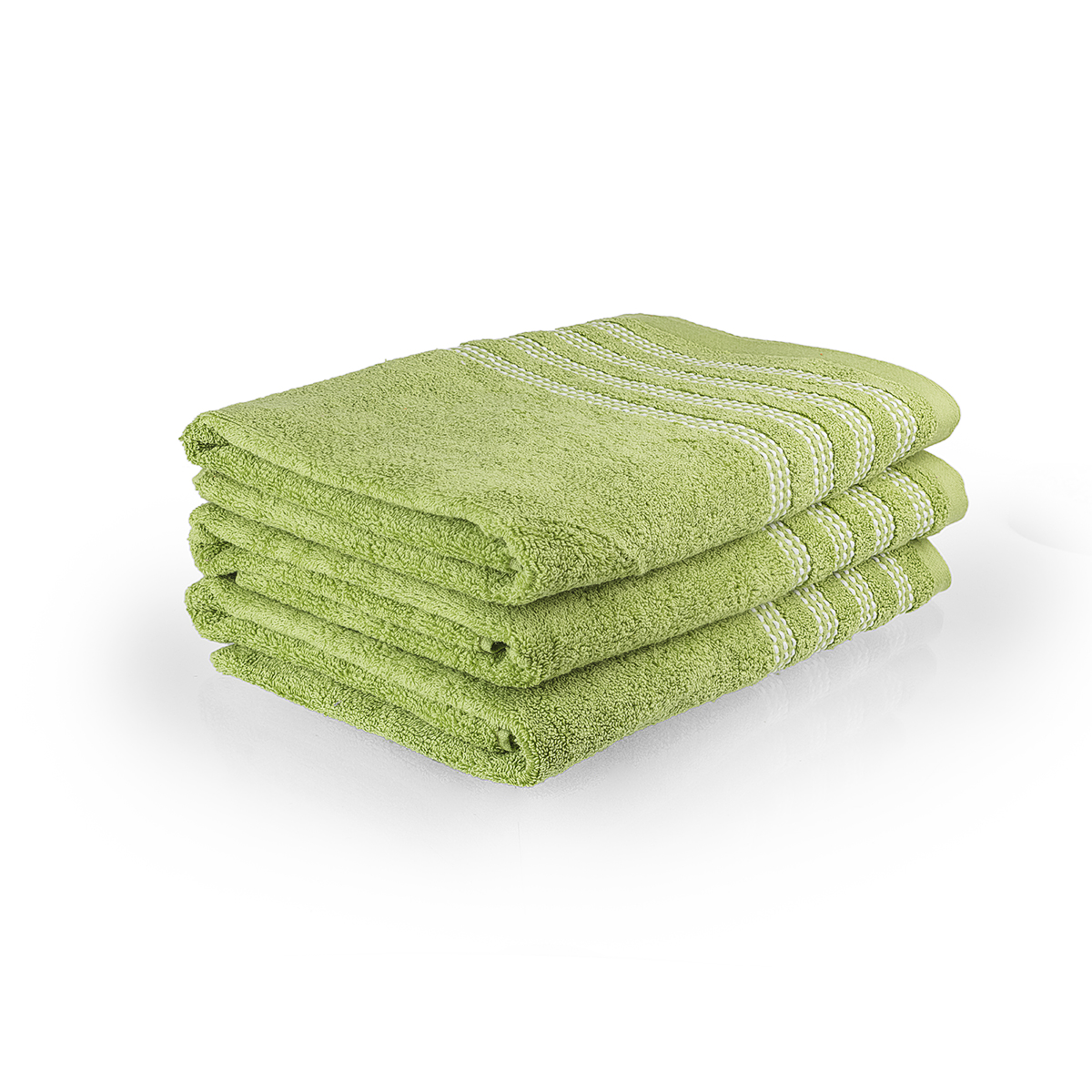 "Полотенце ""Карамелька"" Зеленый, размер 70х140 см Китай ""Sunvim"""