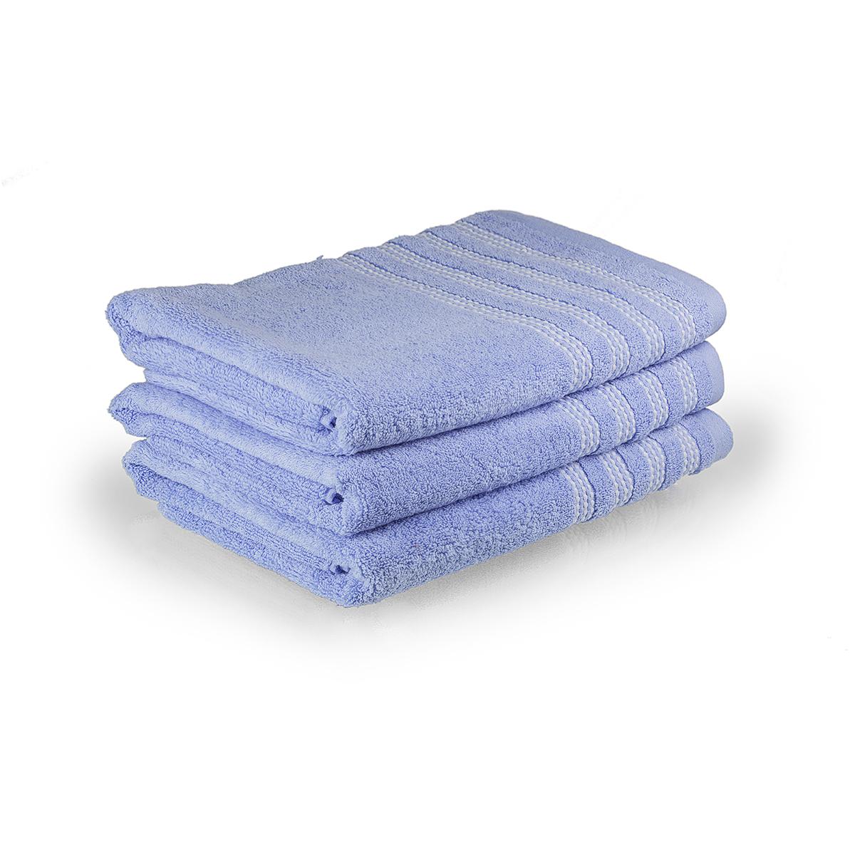 "Полотенце ""Карамелька"" Голубой, размер 70х140 см Китай ""Sunvim"""